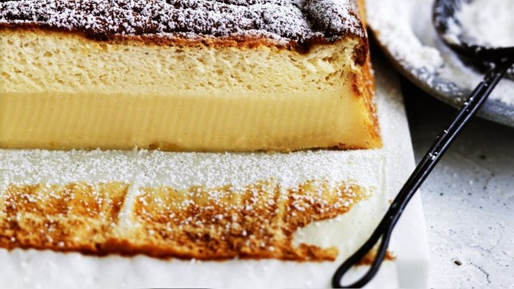 Adam's marmalade custard cake is magic - it separates into a layer of cake and custard while baking!