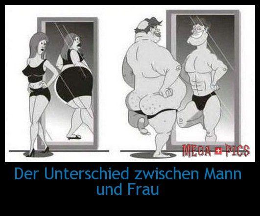 Der Unterschied zwischen Mann und Frau - www.MegaPics.ch. Lustige Bilder, witzige Fotos, fun Pics, fail Videos.
