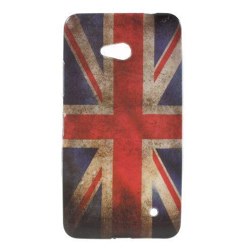 Mesh - Microsoft Lumia 640 Hoesje - Back Case Siliconen Vintage Britse Vlag | Shop4Hoesjes