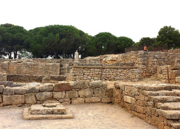Ruinas de Ampurias, una de las pocas colonias griegas que hubo en la península, Gerona, España