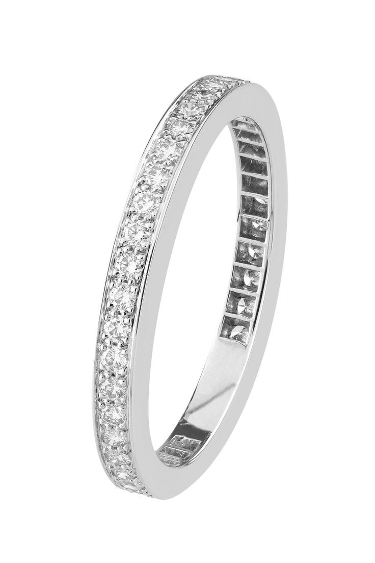 Van Cleef & Arpels Romance platinum and diamond wedding band