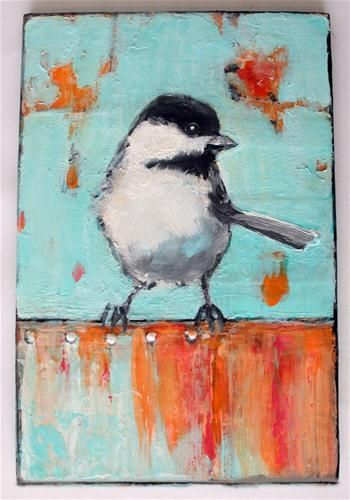"""Bird on a Tin Fence"" -Diana Mulder"