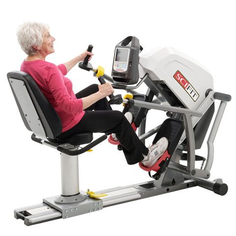 """User defined stride length from 2"""" to 11.5"""" on the SCIFIT Recumbent Stepper."""