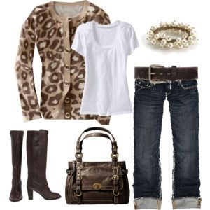 NICE: Cheetahs, Sweaters, Outfit, Jeans, Styles, Leopards Prints, Animal Prints, Boots, The Cardigans