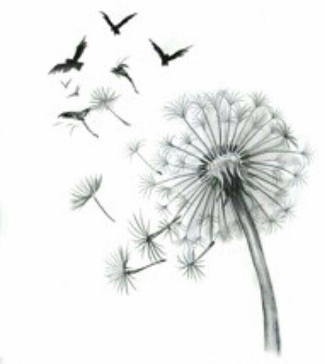 Одуванчик с птицами картинки