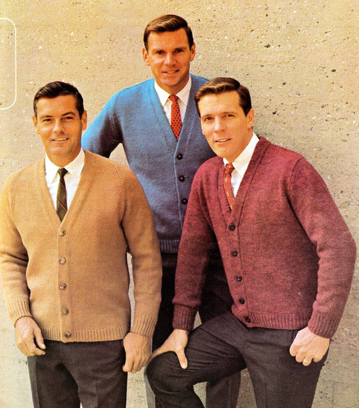 Male style 1960's- Men in the 1960's wore very modern style. This picture demonstrates the tighter fit clothing and brighter colors that men wore.