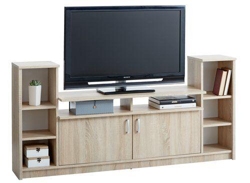 Comodă TV GENTOFTE 2 usi stejar