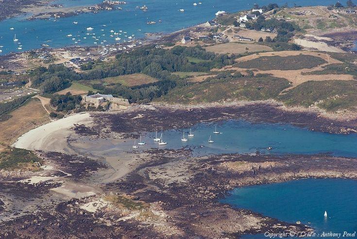Photo aérienne de Iles Chausey - Manche (50)