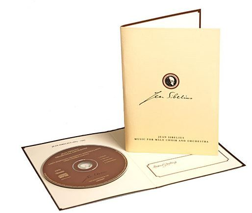 Two different Jean Sibelius™ Cd –cards; Orchestral Favourites and Music for Male Choir and Orchestra