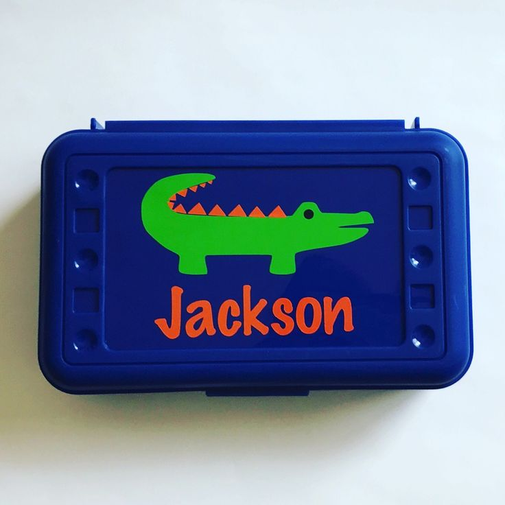 Personalized Pencil Box, Alligator Pencil Box, Back to School, School Supplies, Pencil Case, Pencil Box, Alligator, Gator Pencil Box, Gator by MamaBforMe on Etsy https://www.etsy.com/listing/530627642/personalized-pencil-box-alligator-pencil