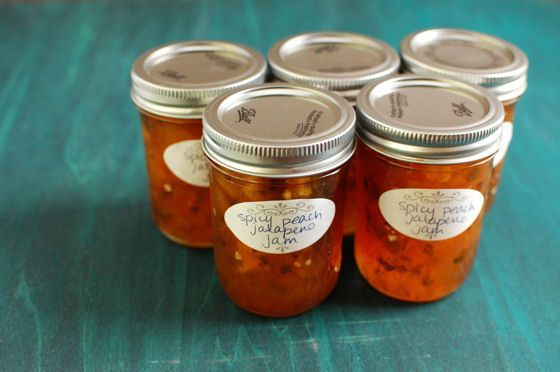 This Spicy Peach Jalapeno Jam is sweet with a subtle kick from the peppers. It's great served with cheese and crackers.   After making some peach pie bars, jam, and sorbet, I still had over-ripened pe