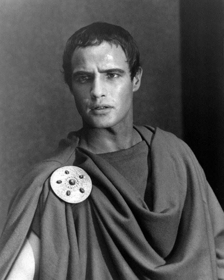 "Yummy:  Marlon Brando as Mark Antony in ""Julius Caesar"""