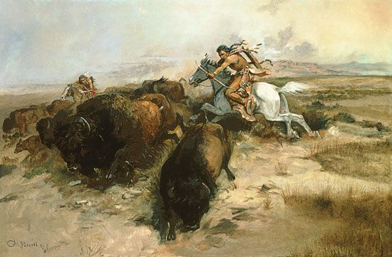 Charles Marion Russell-Buffalo Hunt