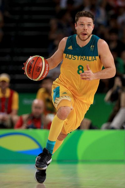 Matthew Dellavedova Photos - Matthew Dellavedova #8 of Australia dribbles the ball against Lithuania during the Men's Quarterfinal match on Day 12 of the Rio 2016 Olympic Games at Carioca Arena 1 on August 17, 2016 in Rio de Janeiro, Brazil. - Basketball - Olympics: Day 12