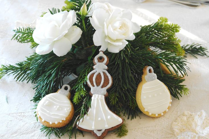 Biscotti natalizi centrotavola e segnaposto
