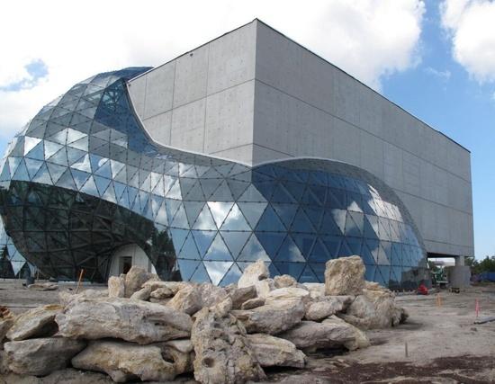 Salvador Dali Museum in St. Petersburg, Florida, United States, designed by architectural firm HOK (Hellmuth, Obata + Kassabaum )