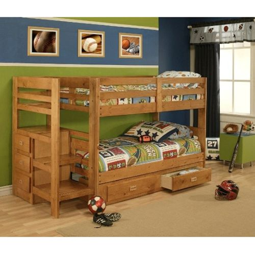 Oak Furniture West Pine Bunk Bed with Storage | Home | Pinterest ...