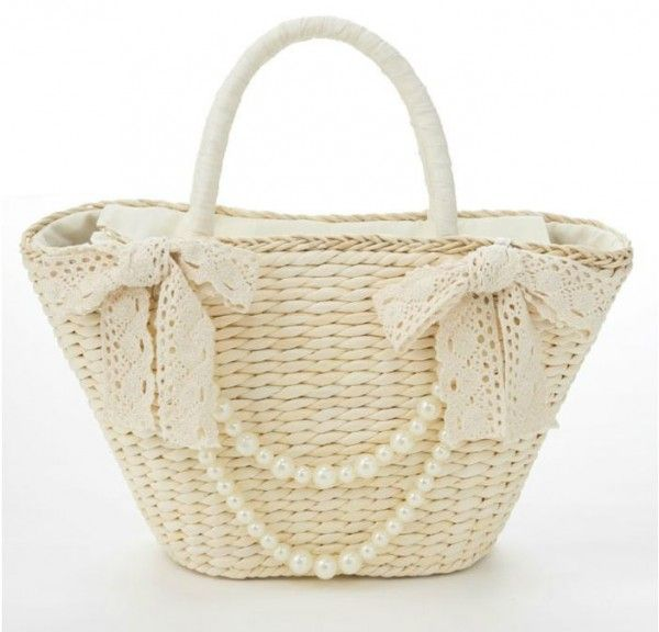 Cute Beachbag With Pearls - VIVI Magazine Clothes Asian Fashion Japan Tokyo…