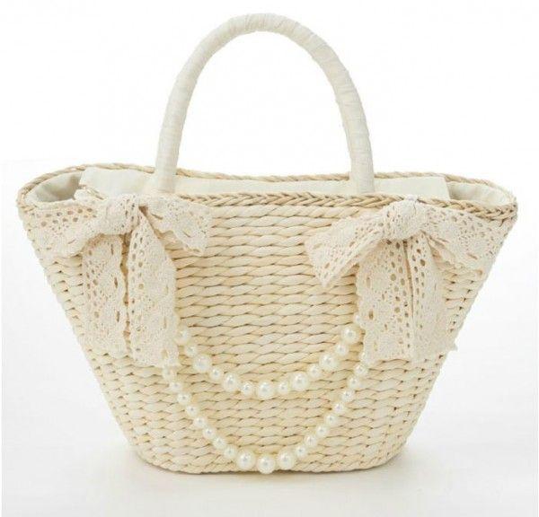 Cute Beachbag With Pearls - VIVI Magazine Clothes Asian Fashion Japan Tokyo…
