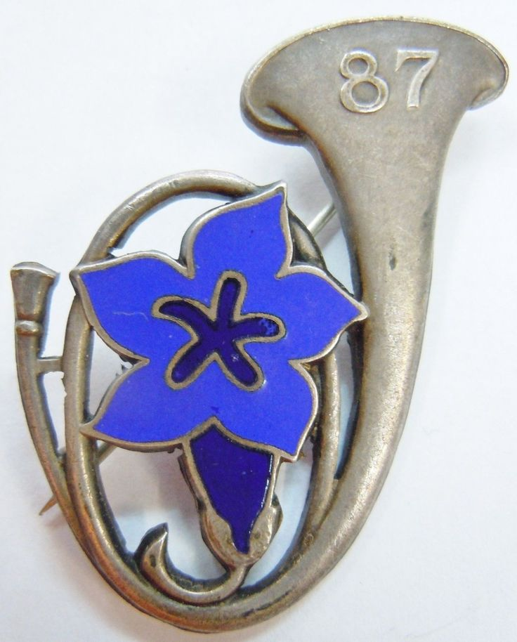 87° BCA 1939 WWII Bataillon de Chasseurs Alpins  insigne authentique