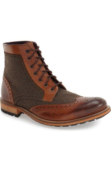 Ted Baker London 'Sealls 3' Wingtip Boot (Men) available at #Nordstrom