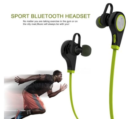 Available to buy Bluetooth Sports Headphones for budding athletes who don't want to get tangled up in wires.