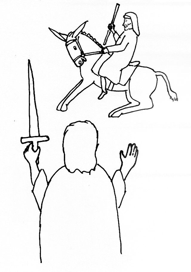 balaams talking donkey coloring pages - photo#16