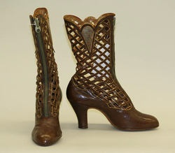 Belgian Boots - 1910s1910S Late 1920S, Ugg Boots, Cowboy Boots, Leather Boots, Pottery Vase, 19Th Century, Vintage Shoes, Met Museum, Metropolitan Museums
