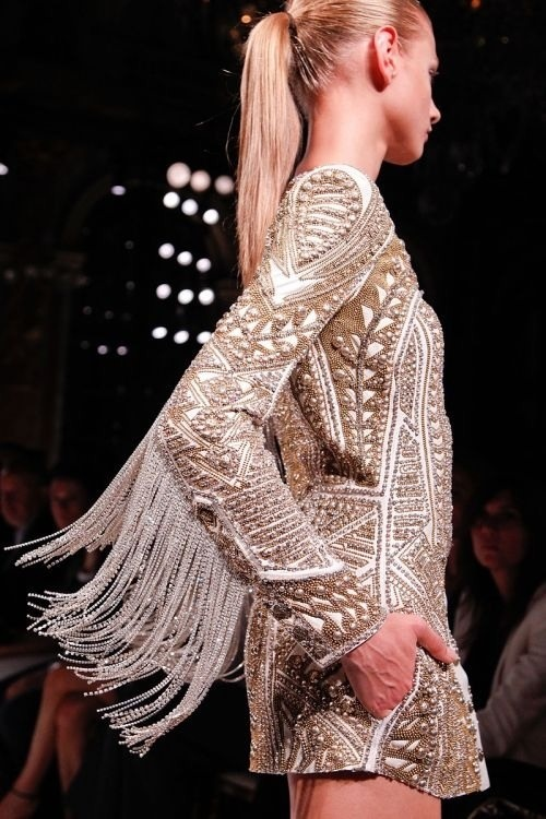 Sleek Ponytail at Balmain #Spring #Runway 2013 #Fringe #Hair