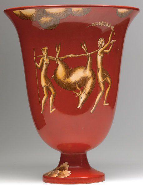 1. GIO PONTI / RICHARD GINORI Large ceramic urn