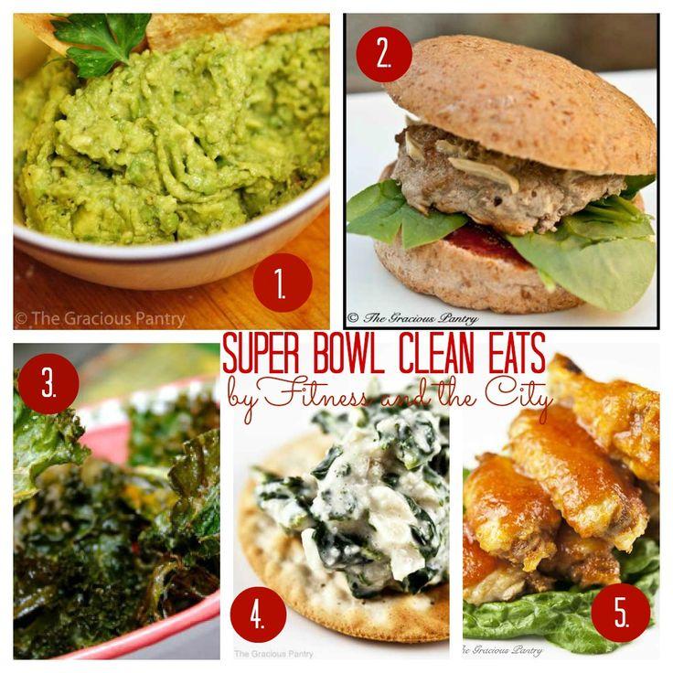 Superbowl clean eating recipes!!