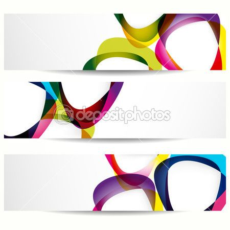 Abstract banner with forms of empty frames for your web design. — Стоковая иллюстрация #5632997