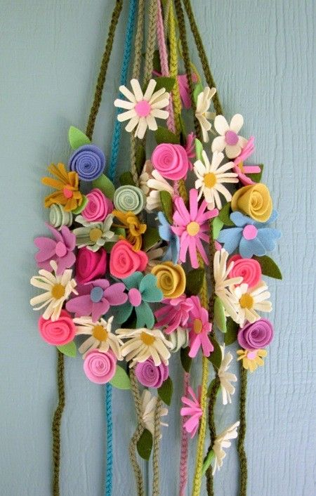 felt flowers-- by marcianita
