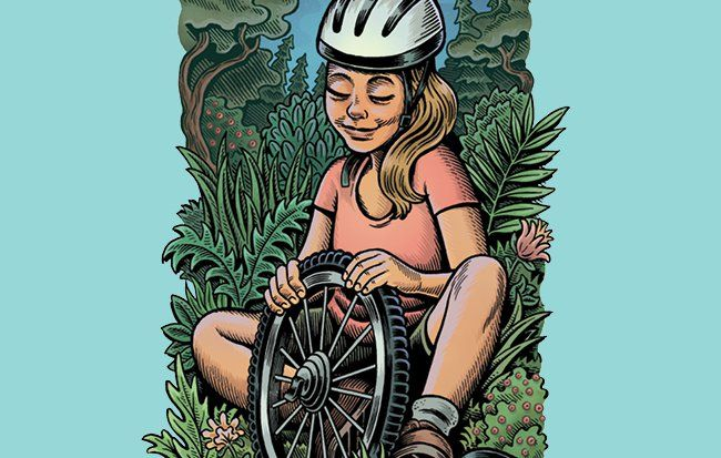 Bestselling author Caroline Paul explains how learning to change a bike tire can inspire girls to live a life of adventure