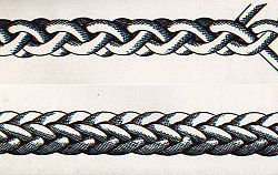 Make a 4 or 8 Part Round Braid  http://www.wikihow.com/Make-a-4-or-8-Part-Round-Braid
