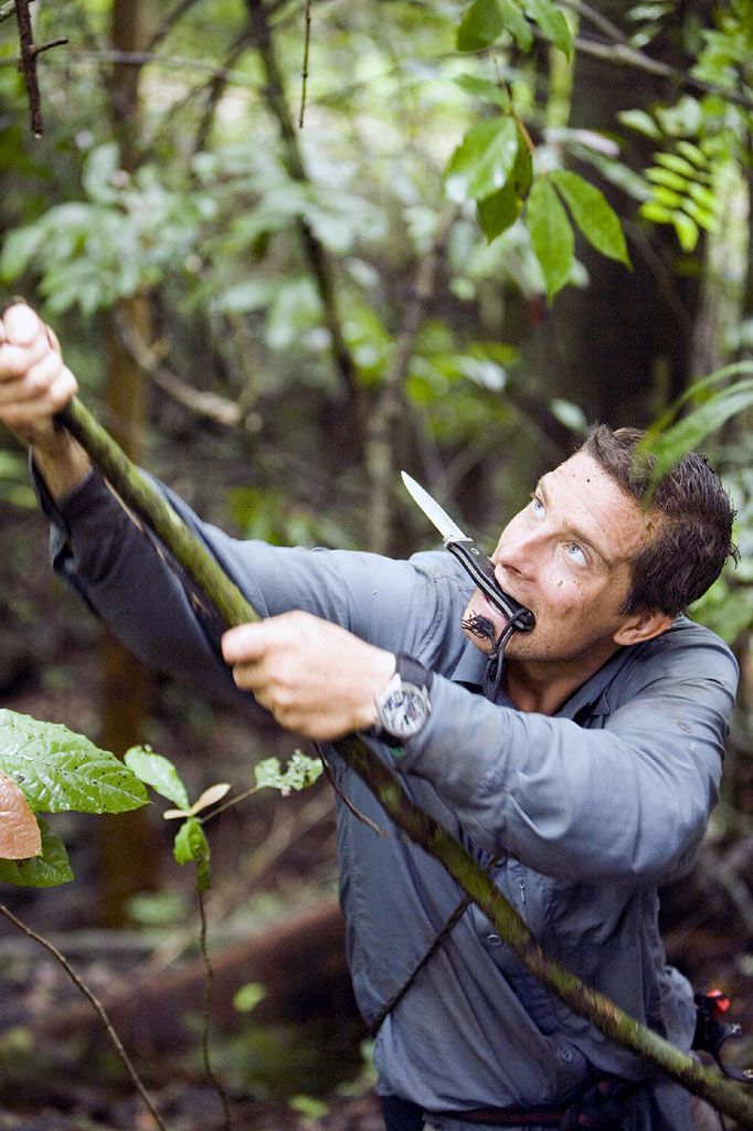 Here's Bear Grylls in action - Liam was lucky enough to meet the adventurer on his wish! #beargrylls #adventure #jungle