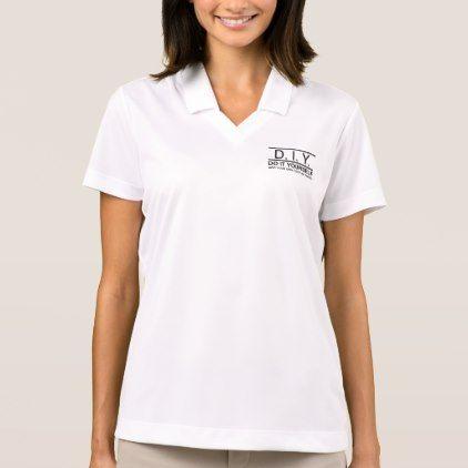 Personalized Custom DIY Do It Yourself Polo Shirt - business logo cyo personalize customize diy special