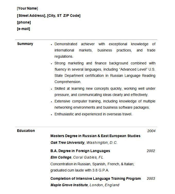 10 Functional Resume Templates Free Printable Word Pdf