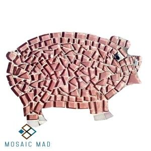 Mosaic Mad DIY Project- PIGGY