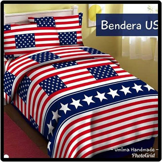 #bendera #usflag #bedding #bedsheet #bedcover #bedroom #bedroomdesign #spreikombinasi #spreihandmade #sprei #interior #interiordesign #hobby #usa Katun Lokal / SET SPREI Single I (bed no 4) 100x200x20= IDR 125.000- Single II (bed no 3) 120x200x20= IDR 145.000- Queen (bed no 2) 160x200x20= IDR 185.000- King (bed no 1) 180x200x20= IDR 195.000- Extra King (Extra Besar) 200x200x20= IDR 215.000- Katun Lokal / SET SPREI & BEDCOVER Single I (uk BC:150X240) 100x200x20= IDR 325.000- Single II(uk BC…