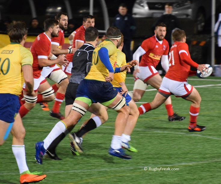 Brazilian pack chasing Team Canada player on his way to a try. #rugbyfreak #sofreaky #loverugby #rugby #ARC #teamcanada #teambrazil #rugbycanada