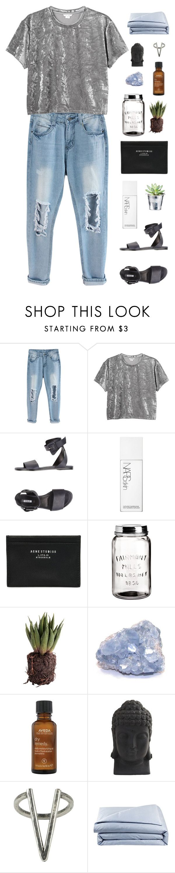 """you used to call me"" by chanelflowurs ❤ liked on Polyvore featuring Monki, Solo, CO, NARS Cosmetics, Acne Studios, H&M, Aveda, Nearly Natural, The 2 Bandits and Frette"