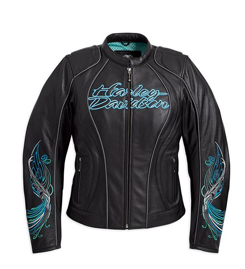 harley davidson clothes for women | Details about ** HARLEY-DAVIDSO N WOMENS CAROUSEL LEATHER JACKET 97072 ...