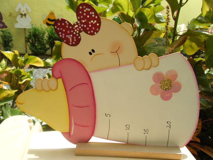 centro de mesa para baby shower de Pris | Manualidades de madera ...