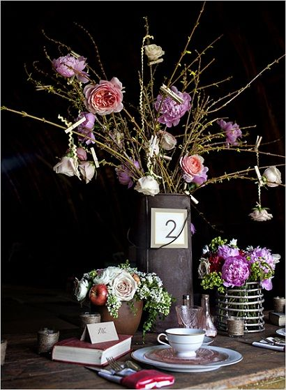 rusticweddingvase: Centerpieces Ideas, Ideas Wedding, Rustic Wedding Centerpieces, Rustic Water, Pail Centerpieces, Rustic Centerpieces, Flower Ideas, Tables Numbers, Water Pail
