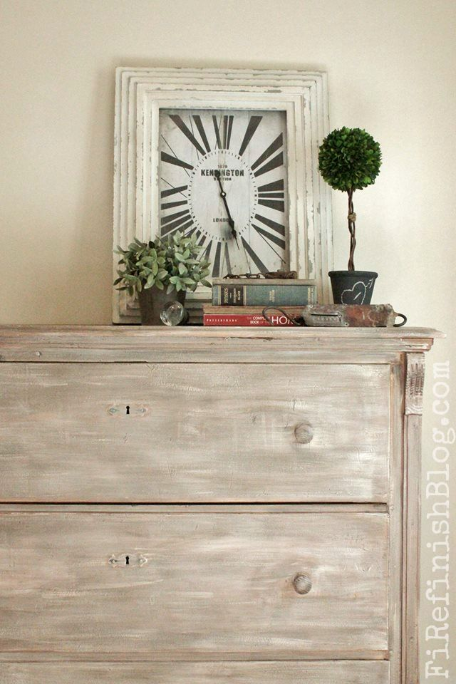 Pine Dresser Makeover By Firefinish White Washed Grey