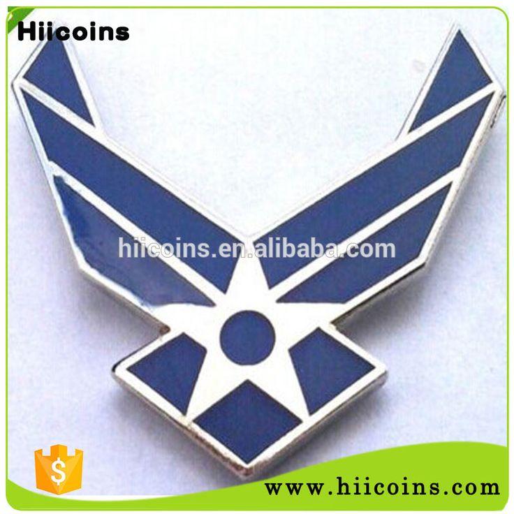 Air Force Logo Pilot Wing Pin Badge Custom Metal Military Veteran Hat Pin