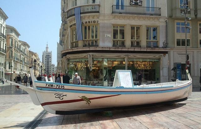 "A typical ""jábega"" in Malaga town centre"