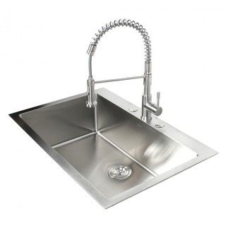 Top-mount Drop-in Stainless Steel Single Kitchen Sink