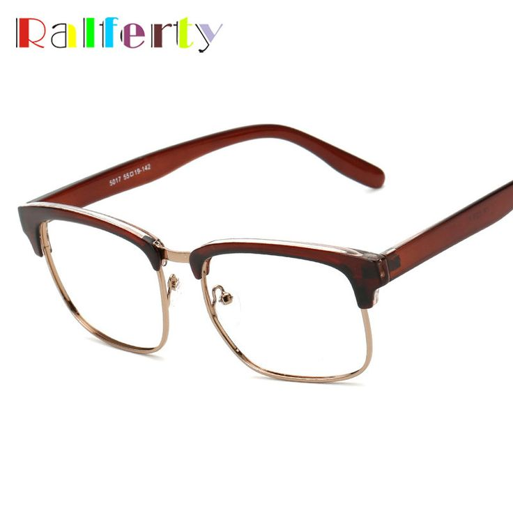 Ralferty TR90 Small Frame Square Eyeglasses For Men Women, Retro Semi-rimless Eye Glasses Frame Myopia Prescription Optic Frames #Affiliate